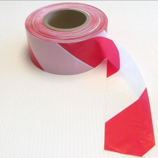 Barrier Tape - Red / White - 500m