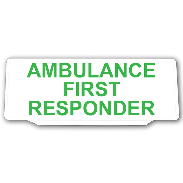 Univisor - Ambulance First Responder - White with Green Text - UNV004