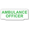 Univisor - Ambulance Officer - White with Green Text - UNV014