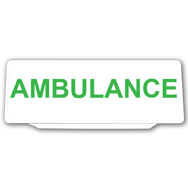 Univisor - Ambulance - White with Green Text - UNV024