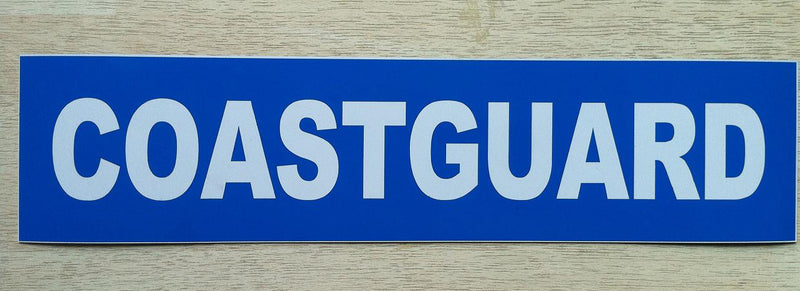 Magnet  Coastguard  with Blue Background and White Text (MG071)