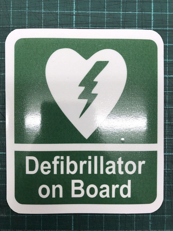 Defib AED on Board Sticker