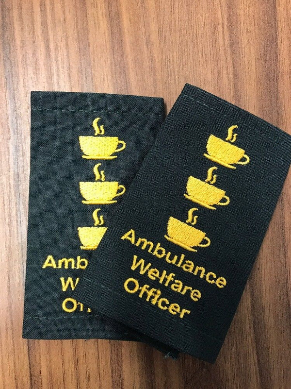 Epaulettes - Ambulance Welfare Officer - Pair - Funny Gift