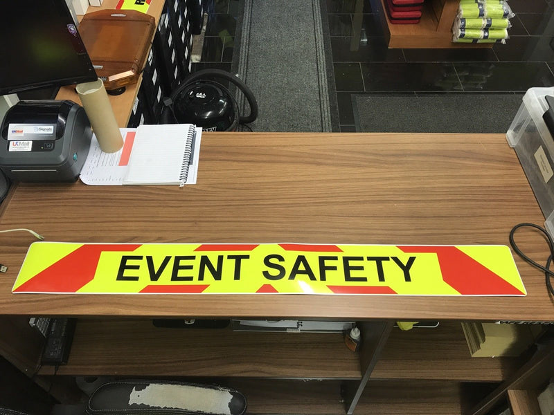 Magnet Event Safety Large Magnetic Sign with Chevron Design (MG010)