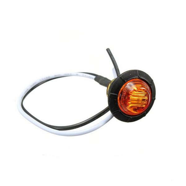 VSWD-802-A - Small Round Button LED Marker Light - Amber ECE R10