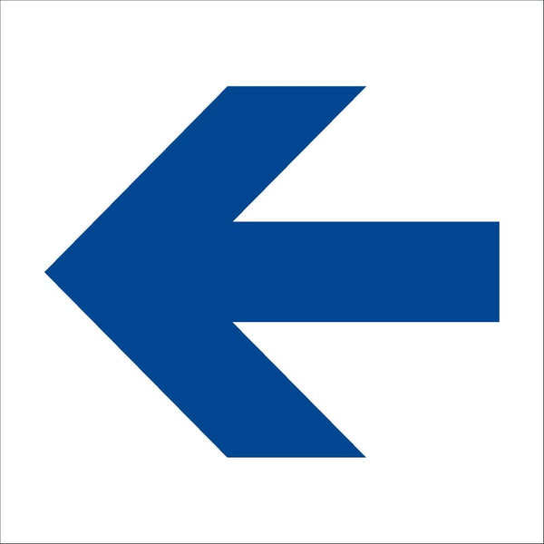 Blue Arrow floor sticker 250mm