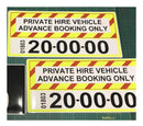 Sticker taxi private hire signage (pair)