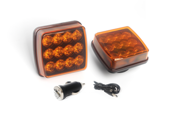 Wireless Rechargeable Magnetic Amber Warning Lights