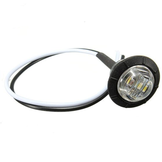 VSWD-802-W - Small Round Button LED Marker Light - White ECE R10