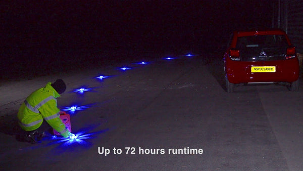 Nightsearcher Pulsar Max Fast Deployment Road Flares