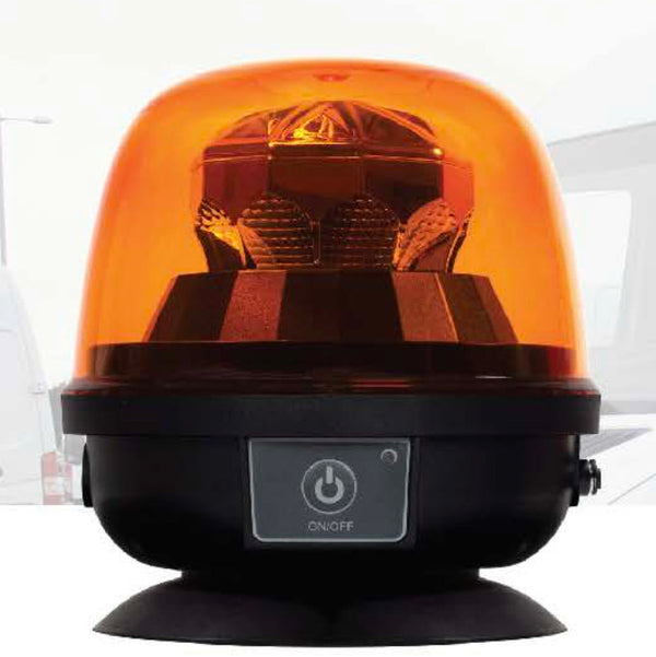 Rechargeable LED Battery Powered Amber Magnetic Base Beacon