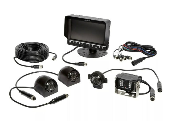 "Ring Automotive 7"" Monitor Quad Camera DVR Reversing"