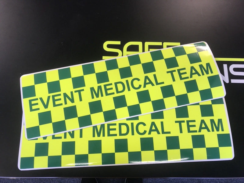 Magnet Event Medical Team - Vehicle Identification x 2 Pair Magnets (MG016)