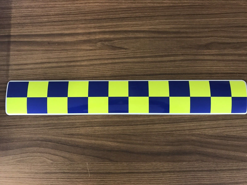 Magnet Police Coastguard Rescue Blue Yellow Chequered Battenburg x1 (MG009)