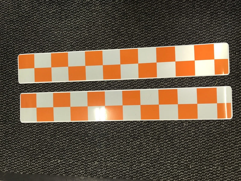 Magnet Lowland Search Rescue Orange & White Chequered Battenburg x2 (MG005)