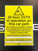 Sticker 24hrs CCTV IN OPERATION A4