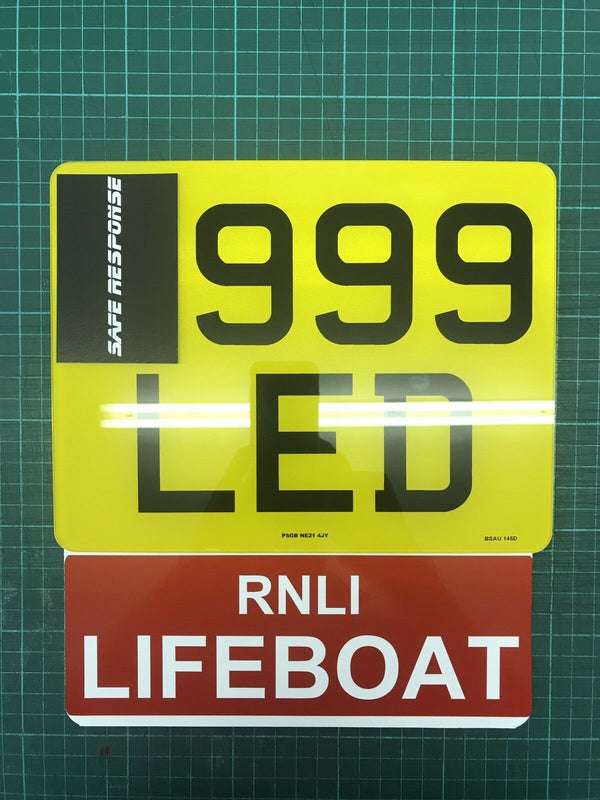 Motorcycle Number Plate Extension - RNLI LIFEBOAT
