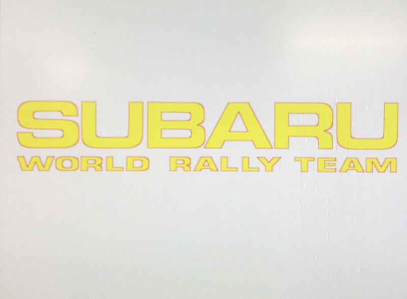 Sticker SUBARU WORLD RALLY TEAM 580mm