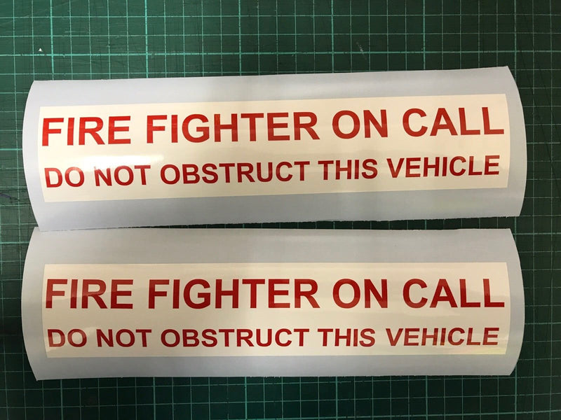 Sticker FIRE FIGHTER ON CALL 240mm x 2