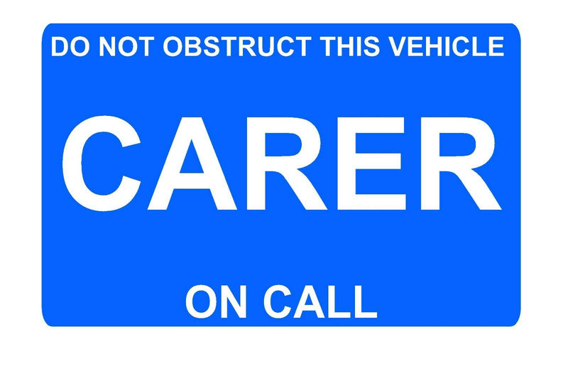 Dashcard CARER ON CALL Blue