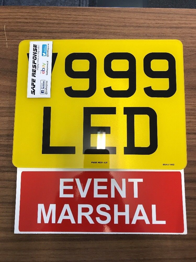 Motorcycle Number Plate Extension EVENT MARSHAL