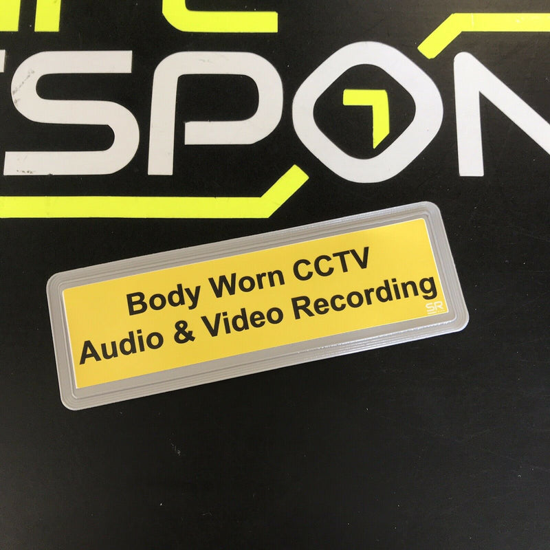 Reflective Badge - BODY WORN CCTV AUDIO AND VIDEO RECORDING 135mm