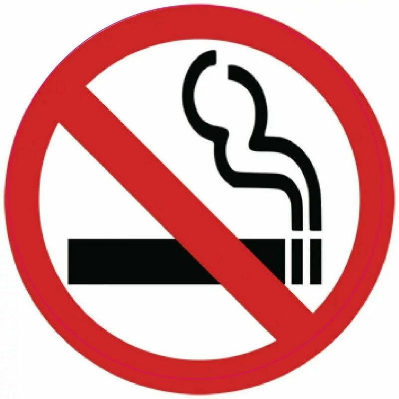Sticker NO SMOKING 75mm
