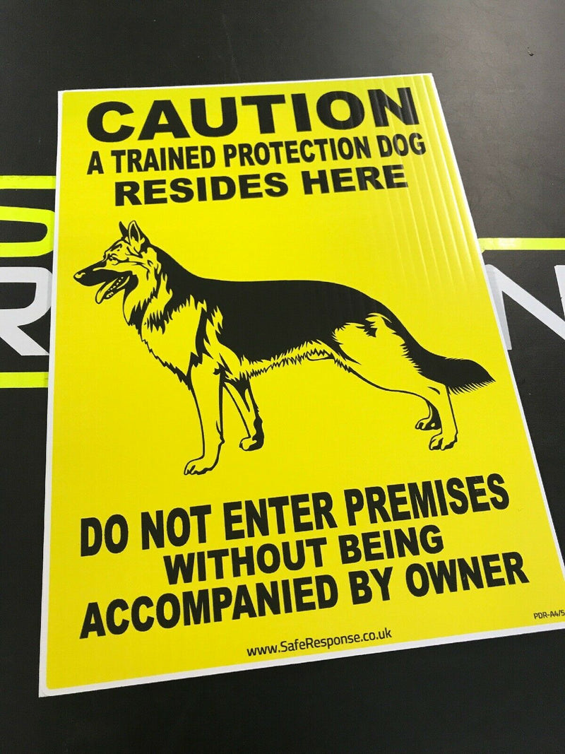 Board Sign  Protection Dogs A5