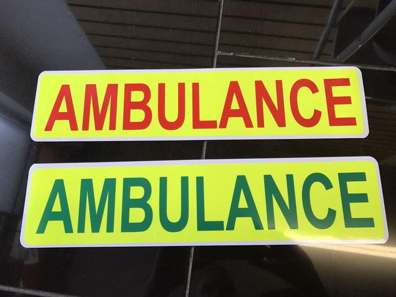Magnetic AMBULANCE Sign Set