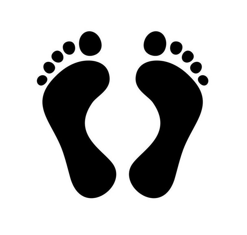 Sticker FOOT PRINT 200mm Pair ST0064