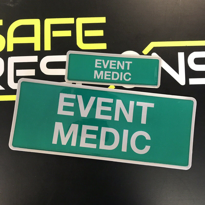 Reflective Badge - EVENT MEDIC  250mm