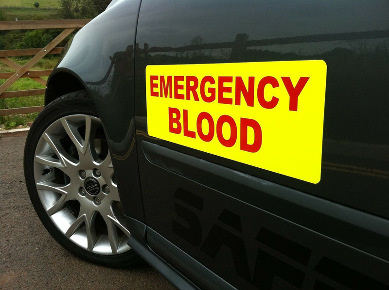 Sticker EMERGENCY BLOOD 300mm Pair