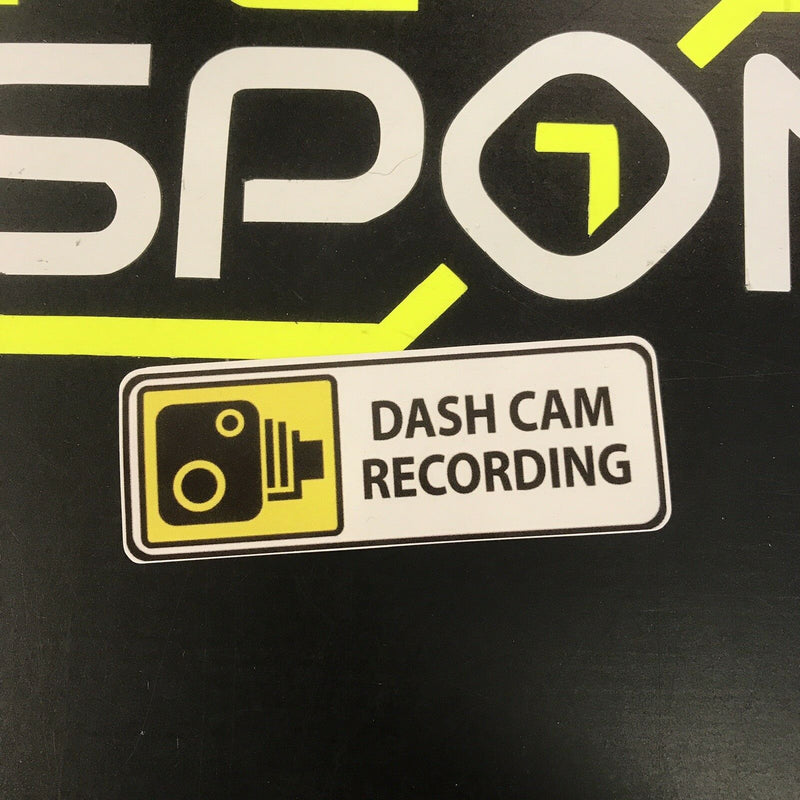 Sticker DASH CAM RECORDING 100mm
