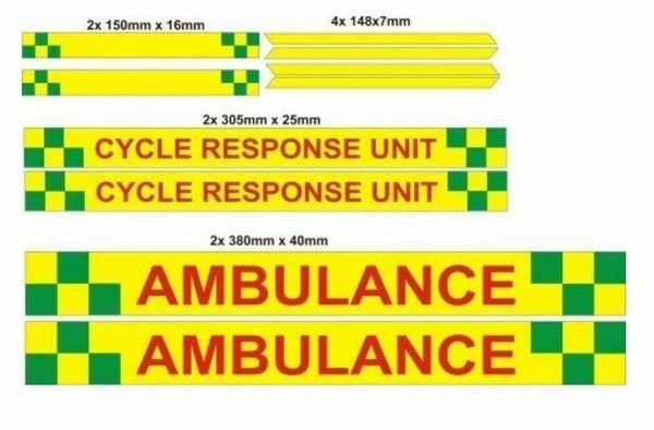 Sticker Kit AMBULANCE Cycle Responder