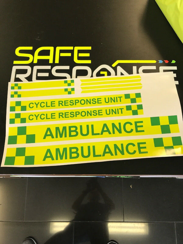 Sticker Kit CYCLE RESPONSE UNIT AMBULANCE