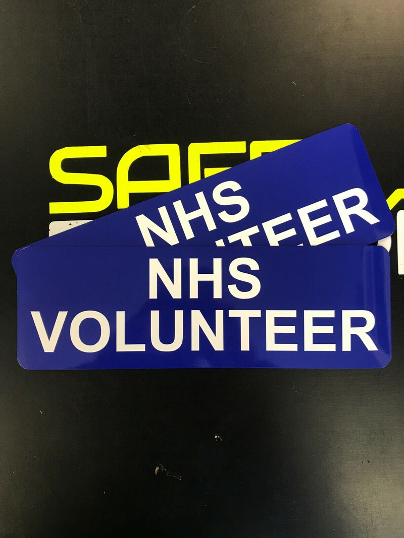 NHS VOLUNTEER Magnet Pair 275mm x 90mm