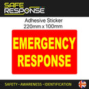 Emergency Response - Sticker - Reflective - 220mm x 150mm