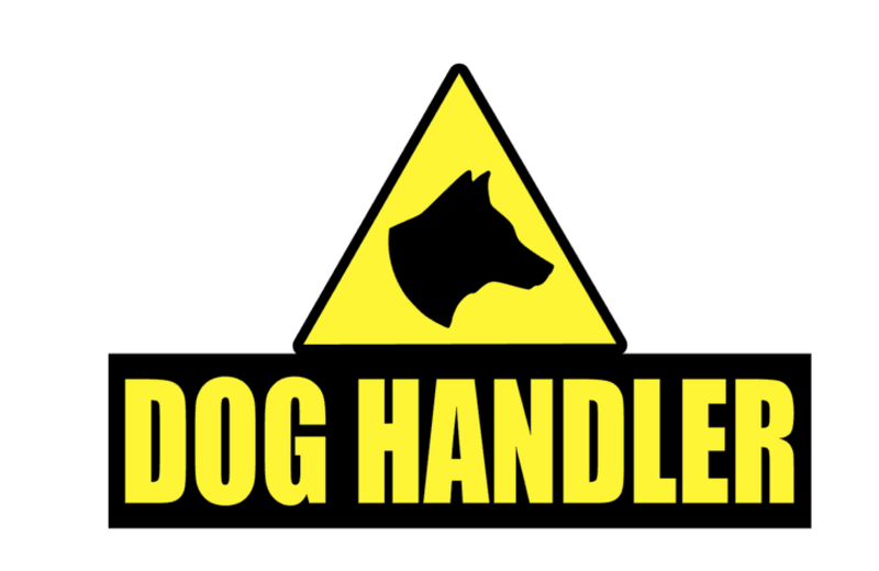 Sticker DOG HANDLER 200mm ST0062 Pair