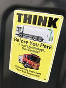 Sticker Park Responsibly Fire Engine