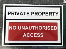 Warning Sign PRIVATE PROPERTY