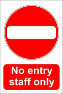 Sticker NO ENTRY STAFF ONLY A4