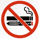 Sticker NO SMOKING / VAPING 75mm