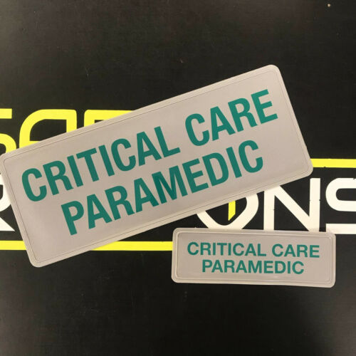 Reflective Badge - Critical Care Paramedic - Green - 250mm Set