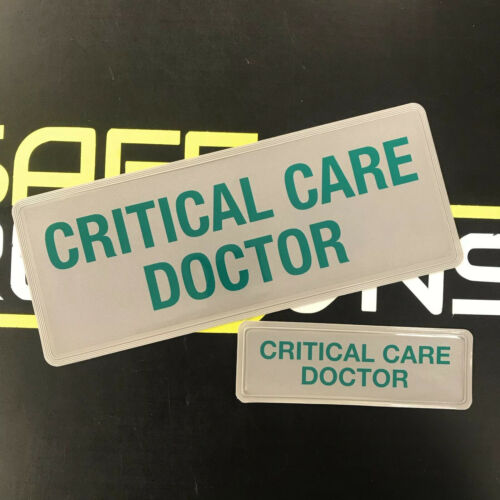 Reflective Badge - Critical Care Doctor - Green - 250mm Set