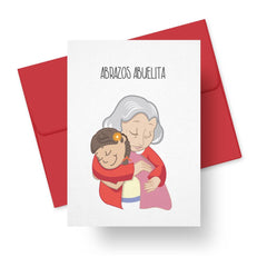 Abrazos Abuelita Mother's Day card for Grandmom in Spanish by Paper Tacos on CheerNotes