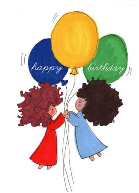 Picture of Happy Birthday- Balloons & Friends card by LITTLE FEET'S OPUS