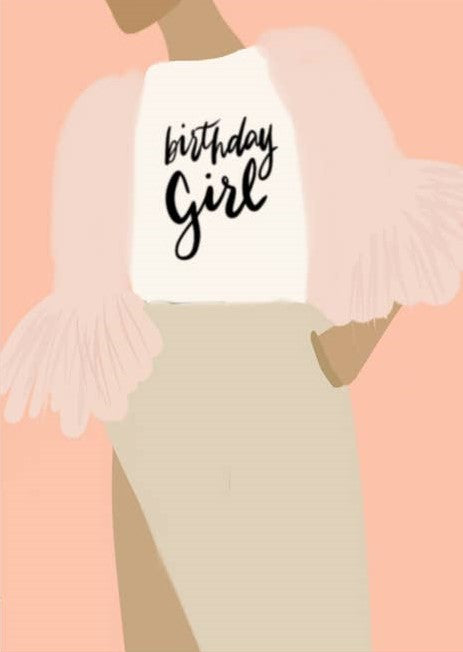 Picture of Birthday Girl card by AIMS MOON PAPERIE