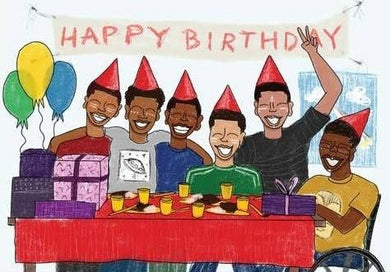 Picture of Boys Club Birthday Card card by BY MS. JAMES