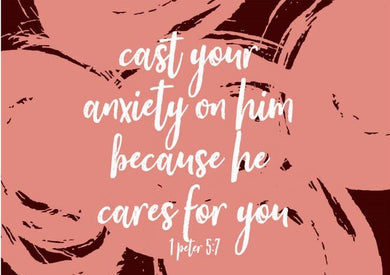 Picture of Cast Your Anxiety card by AIMS MOON PAPERIE