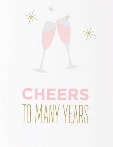 Picture of Cheers to Many Years card by GRAPHIC ANTHOLOGY